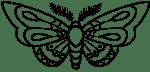 Vlinder zwart transparant